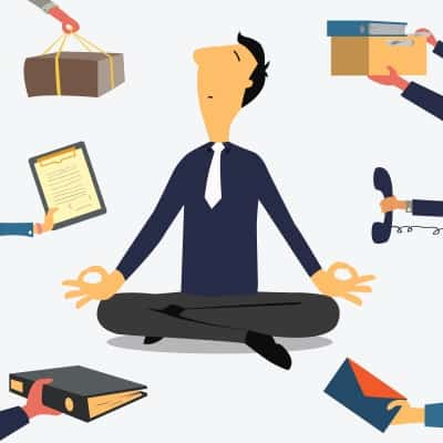 Businessman Doing Yoga by jesadaphorn