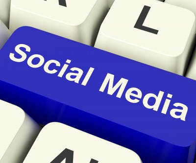 Social Media Computer Key by Stuart Miles